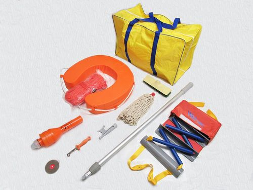 Emergency Marine Safety & Cleaning Kit - Lifebuoy Light Cutter Mirror Bag Ladder